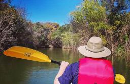 Kayaking at Britton Park, Joe Pool Lake