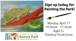 Painting at the Park, Oliver Nature Park