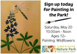 Painting at the Park, Oliver Nature Park, Mansfield, TX