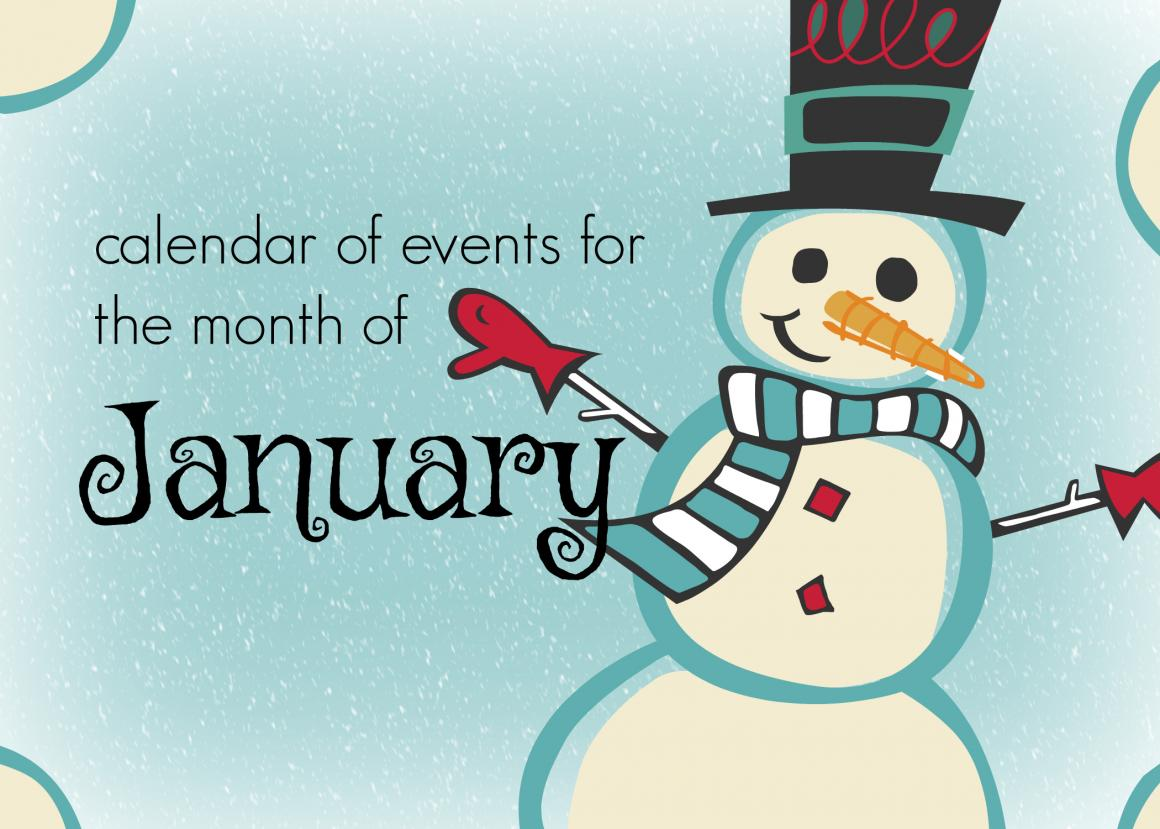 calendar of events, January 2018, Mansfield, TX