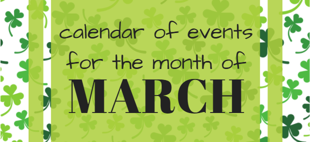 calendar of events, March 2018, Mansfield, TX