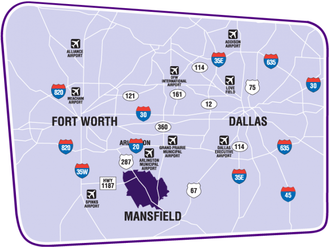 Visit Mansfield Texas – Fort Worth Tourist Attractions Map