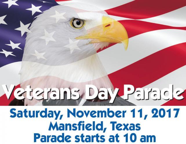 Veterans Day Parade 2017, Mansfield, TX