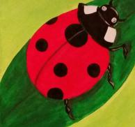Painting at the Park, Oliver Nature Park, Ladybug
