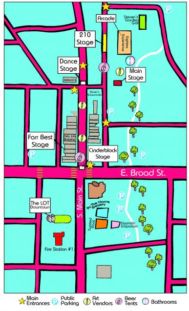 music alley map