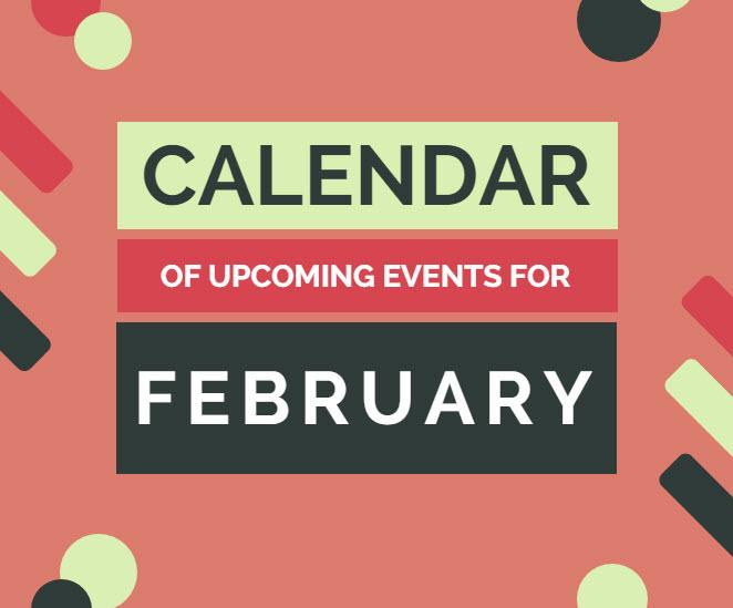 Calendar of upcoming events, February, Mansfield, TX